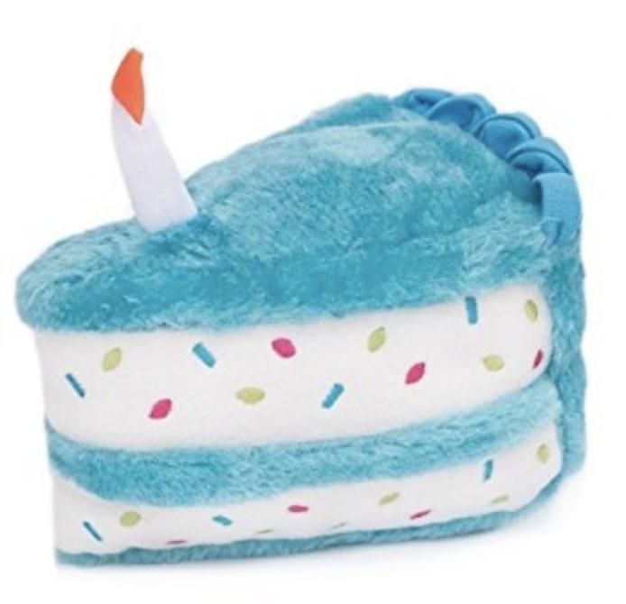 embark dog blue birthday toy