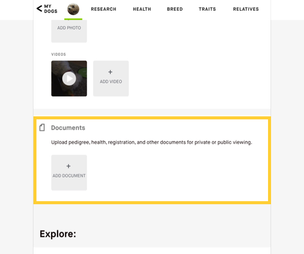 Embark document upload