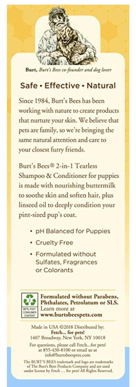 embark dog shampoo back