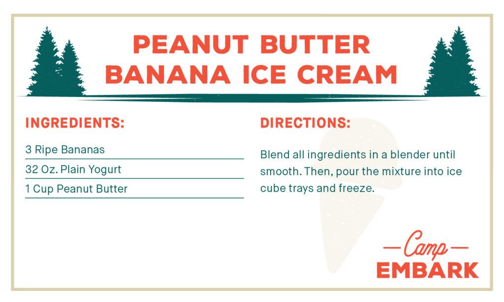 homemade dog treat recipe peanut butter banana ice cream