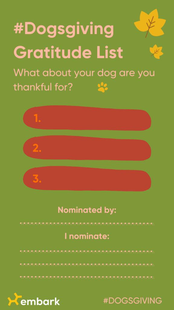 Dogsgiving Gratitude list